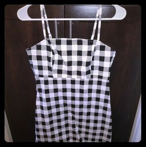 Black and white gingham dress